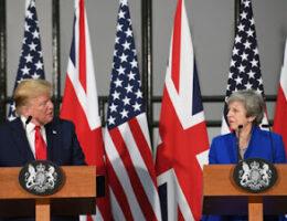 President Trump Called Former UK PM Theresa May Weak. Germany's Angela Merkel 'Stupid'