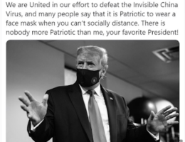 President Trump Finally Publicly Tells People To Wear A Mask