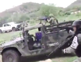 Video: CJNG vs Military and the National Guard in Aguililla Michoacan