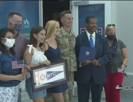 A surprise graduation: Soldier receives college diploma upon return from Middle East