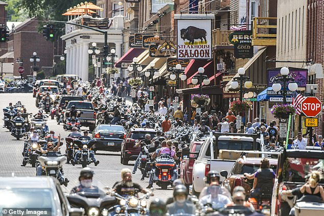 As the coronavirus cases mount, South Dakota proved they didn't fear the virus as they held the 80th annual Sturgis Motorcycle Rally on Friday that will go on for 10 days