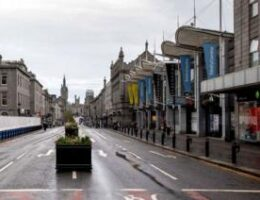 Coronavirus: Empty streets as Aberdeen lockdown takes effect