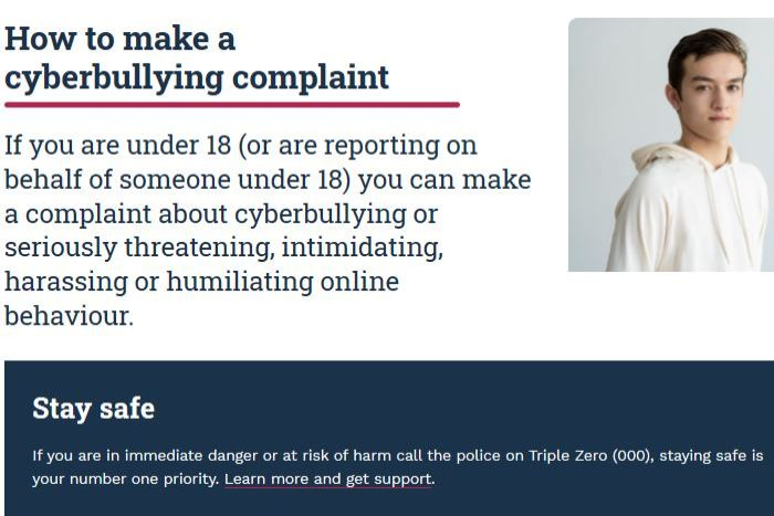 Information on cyberbullying from the eSafety Commissioner