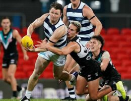 Geelong proves its premiership credentials by flogging table-topping Port