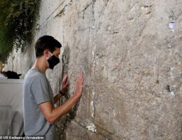 Jared Kushner visits the Western Wall as he says 'the stage is set' for more Middle East peace