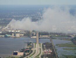 Key air monitors offline after Laura hits Louisiana gas hub