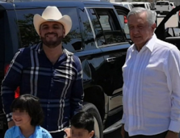 Mexican president stops to take pictures with narco-ballad singer in Sinaloa