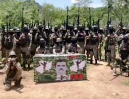 """Michoacán: """"El Mencho"""" stars in a CJNG video for the first time, """"I am Mencho....my war is with El Abuelo"""""""