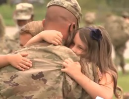 National Guard troops return from middle east after a year, reuniting with family and loved ones