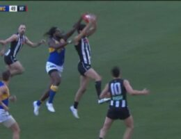 Nic Naitanui's 'mesmerising' play may be too hard to ignore when it comes to the AFL's best team
