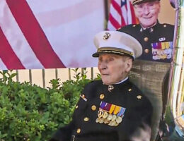 Oldest Living United States Marine Celebrates 105th Birthday in Stockton
