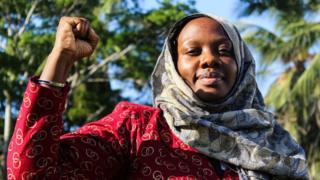 Miss Phylis Omido, a Kenyan environmental activist in Mombasa in 2018