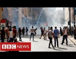 Protesters Clash With Police And The Army In Beirut