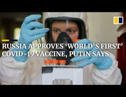 Russian President Putin Says The Health Ministry Has Approved The World's First Covid-19 Vaccine