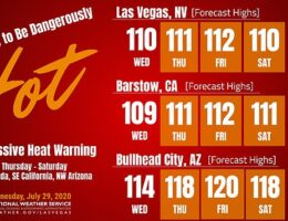 Southwest United States is issued an 'excessive heat warning'