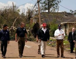 Trump tours Hurricane Laura storm damage, pledges support