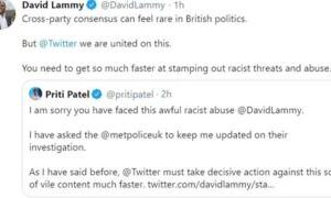 Twitter needs to act over racist abuse, says David Lammy