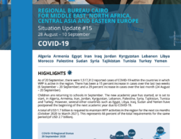 Algeria: WFP Regional Bureau Cairo for Middle East, North Africa, Central Asia and Eastern Europe COVID-19 Situation Report #15, 28 August-10 September 2020