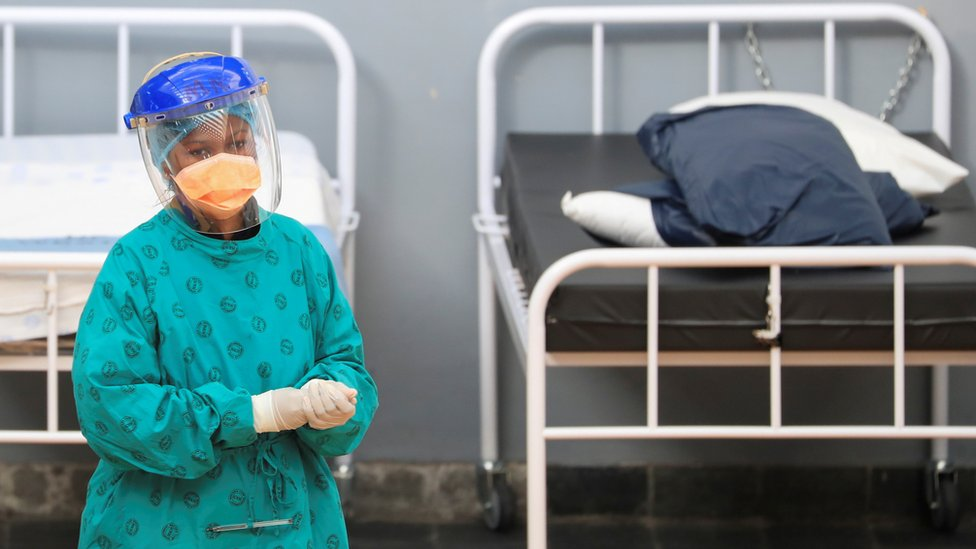 A nurse in a hospital in South Africa - July 2020