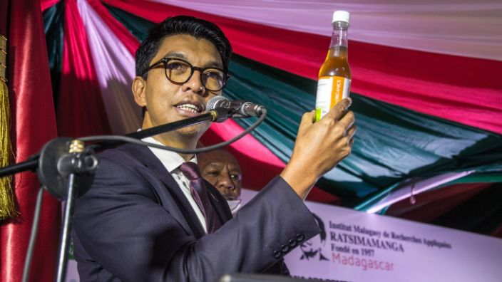 Madagascar President Andry Rajoelina says the drink is effective