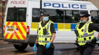Police Scotland face masks