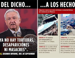 Despite AMLO's declaration that massacres, and disappearances no longer exist...this year counts 45 so far