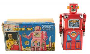 Extremely rare boxed Machine Man Robot could fetch $90K at Morphy's Sept. 23-24 Toy Auction