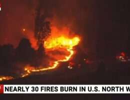 Fires burning across north-west of United States cause devastation