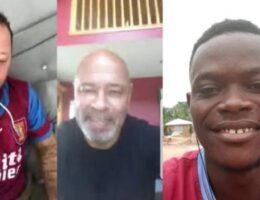 Ghana Villa fan's 'tears of joy' after phone call