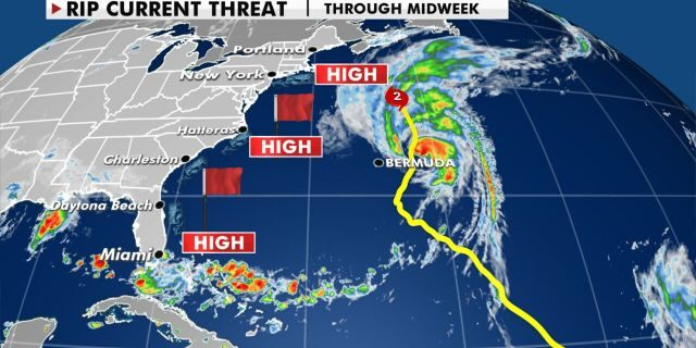 Hurricane Teddy is creating dangerous conditions along the East Coast of the U.S.