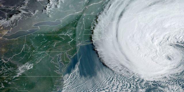 Hurricane Teddy as seen on Sept. 22, 2020 moving towards Atlantic Canada.