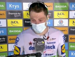 'I don't mean to be a cry baby': Irishman breaks down after stage win over Australia's Caleb Ewan