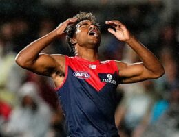 Melbourne misses chance to join AFL finalists, losing to Freo in sodden Cairns clash