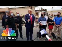 President Trump Tours Violence-Ravaged Kenosha