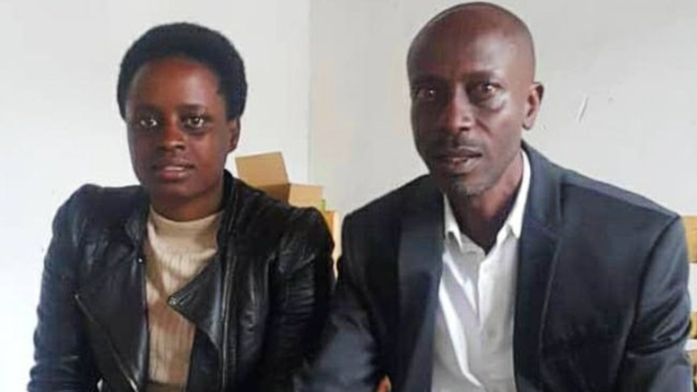 Grace Umutoni and her maternal uncle Antoine Rugagi
