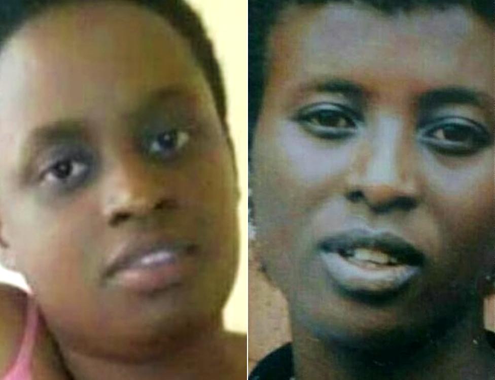 Grace Umutoni (L) and her mother Liliose Kamukama
