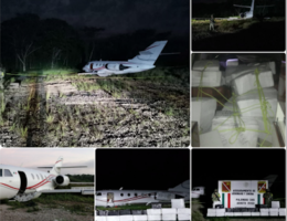 Sedena Intercepts a Colombian narco-plane with 1.3 Tons of cocaine in Palenque, Chiapas