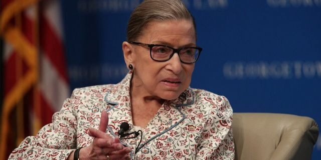 """WASHINGTON, DC - JULY 02: U.S. Supreme Court Associate Justice Ruth Bader Ginsburg participates in a discussion at Georgetown University Law Center July 2, 2019 in Washington, DC. The Georgetown University Law Center's Supreme Court Institute held a discussion on """"U.S. Supreme Court Justice Ruth Bader Ginsburg: A Legacy of Gender Equality in Life and Law."""" (Photo by Alex Wong/Getty Images)"""