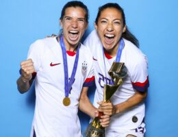 United States' World Champions Tobin Heath And Christen Press Sign For Manchester United