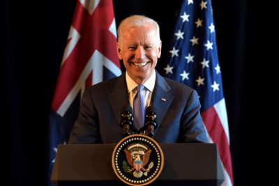 US Vice President Joe Biden reacts during a ceremony in Melbourne, Australia, 17 July 2016 (Photo: Reuters/Tracey Nearmy/Pool).