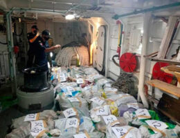 Chiapas- Navy secures 850 kilos of cocaine off coast