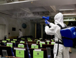 Cleaning Staff In Hazmat Suits Sanitize The West Wing