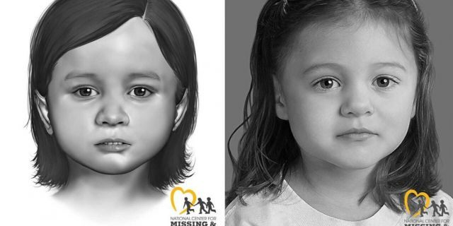 Smyrna police in Delaware released these images in hopes of identifying remains of a little girl found near softball fields in September.(Smyrna Police Department)