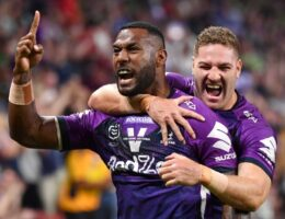 Is this goodbye from Cameron Smith? League legend chaired off in Brisbane as Storm reach another grand final