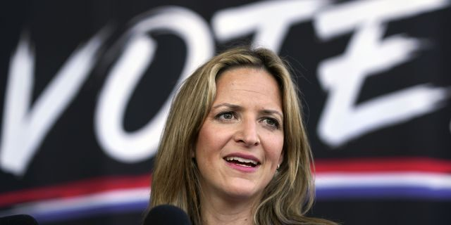 In this Sept. 24, 2020, file photo, Michigan Secretary of State Jocelyn Benson speaks in Detroit. On Tuesday, Oct. 27, 2020, a judge blocked a sudden ban on the open display of guns near Michigan polling places on Election Day. (AP Photo/Paul Sancya, File)