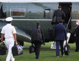 'Nuclear Football' Spotted When President Trump Boarded Marine One Yesterday To Fly To Walter Reed National Medical Center