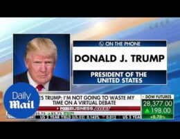 President Trump Will Not Participate In A Virtual Debate