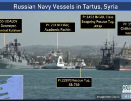 Russian Warships Are Escorting Iranian Tankers To Syria