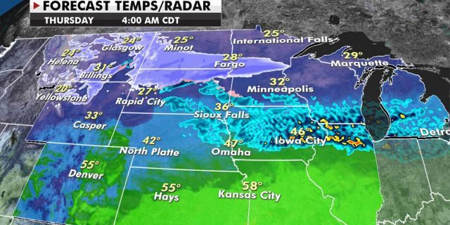 Another round of snow is forecast for Wednesday across the Upper Midwest.