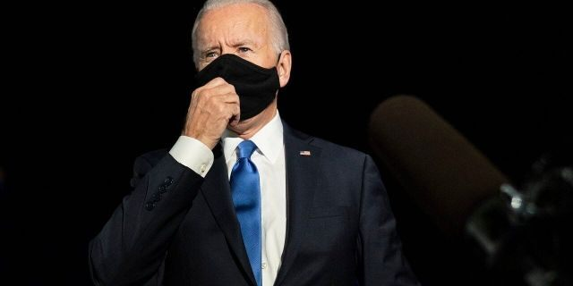 Democratic candidate former Vice President Joe Biden speaks to reporters before boarding his campaign plane at Nashville International Airport Thursday, Oct. 22, 2020. (AP Photo/Carolyn Kaster)